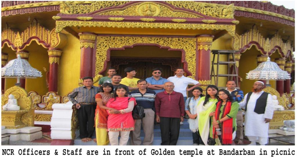 Golden Temple at Bandarban in Picnic